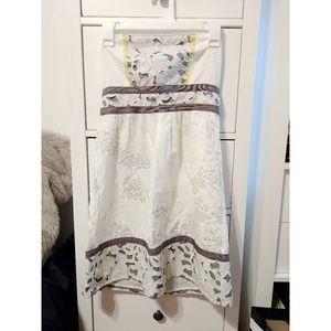 Kimchi Blue Strapless Floral Lasercut Dress